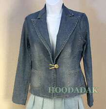 Size 2  Banana Republic Women's  Blue Denim Blazer Jacket , Pre-owned