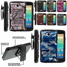 Armor Rugged Stand Belt Holster Clip Case LG Tribute LS660 Transpyre Camo