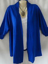 NEW Catherines Cobalt Blue Medium Wt Jacket Cardigan Top 0X 1X 2X Womens  Plus