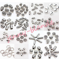 New 50/100pcs Tibet Silver Tube Loose Spacer Beads Pendants Jewelry Finding DIY