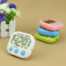 Count-Down Timer Large LCD Digital Kitchen Cooking Up Clock Loud Alarm Magnetic