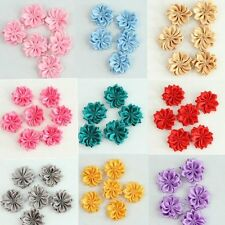 20Pcs Cute satin Sewing Flower Ribbon bows Appliques DIY Ribbon Embellishment