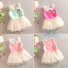 Fashion Autumn Baby Girl Clothing Velvet Lapel Tutu Dress Tulle Skirt Sundress