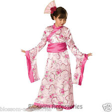 CK358 Child Asian Princess Japanese Girls Kimono Geisha Fancy Dress Up Costume