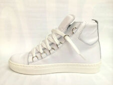 SCARPE UOMO BORGHESE SHOES SNEAKERS B2000 BIANCO P/E 2015 PELLE MADE IN ITALY
