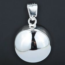 "Sterling Silver 925 ""Smooth Harmony Ball"" Pendant & Necklace, 18 Inches"