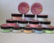 Glow in The Dark Nail Acrylic Powder with Glitter ~1/3 oz pots 12 colors to pick