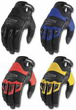 Icon Mens Twenty-Niner Goatskin Palm Motorcycle Riding Gloves All Sizes