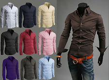 Wholesale New Amazing Quality Shirts Mens Casual Formal Slim Fit S M L XL SLS01