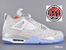 Nike Air Jordan 4 IV Retro LASER White 30th Anniversary Men GS Size 705333-105