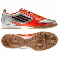 ADIDAS F10 IN INDOOR SOCCER SHOES FUTSAL METALLIC SILVER MESSI COLOR.