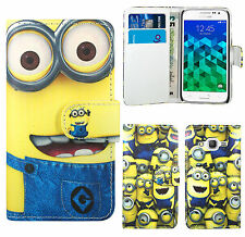 Despicable Me 2 Minion Leather Wallet Case Cover For Samsung Galaxy Core Prime