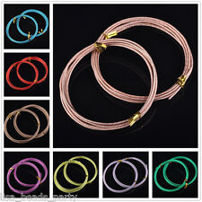 Hot 12Gauge 2.0mm Carved Aluminum Jewelry Making Wrap Cord DIY Craft Wire String
