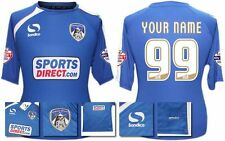 *14 / 15 - OLDHAM ATHLETIC HOME SHIRT SS + PATCHES / PERSONALISED = SIZE*