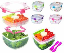 SISTEMA PLASTIC SALAD TO FOOD TO GO FRUIT LUNCH STORAGE BOX WITH FORK & CUTLERY