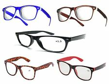 NEW RETRO WAYFARER READING GLASSES +1 +1.5 +2 +2.5  +3.0 +3.5 + 4.0 Ladies Mens