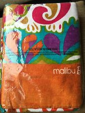 "TRINA TURK FULL SIZE  Bath Towel Malibu Barbie Beach Design  34"" X 64"" NWT"