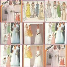 Vintage Simplicity Sewing Pattern Prom Bridal Bridesmaids Wedding Gowns You Pick