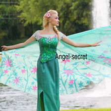 FJ929 new  FROZEN FEVER ELSA green dress whole set