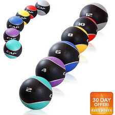 CAP Barbell Rubber Medicine Ball Weights Fit Gym Exercise Fitness Workout NEW
