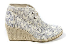 Toms Women's Shashiko Desert Wedge in Whisper Canvas BNIB Sz 5-10 Free Shipping