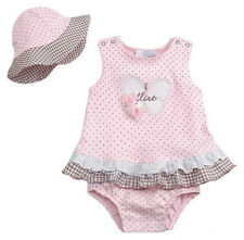 2pcs Baby Girl Newborn Infant Hat+Romper Bodysuit Polka Dot Outfit Clothing Set