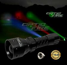 Opticfire TX-38 T38 LED hunting light torch lamp NV nightvision red green XML IR