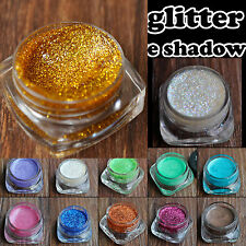 Glitzy Shimmer Eye Shadow Eyeliner Glitter Cream Gel Pink Purple Gold Blue Shade