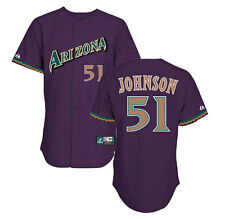 Randy Johnson 1998 Arizona Diamondbacks Cooperstown Purple Jersey Men's