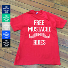 Free Mustache Rides T shirt | Funny beard Mustache tees | dirty tees-8