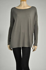 Piko Top Authentic Bamboo Long Sleeve Boat Neck Tunic S M L