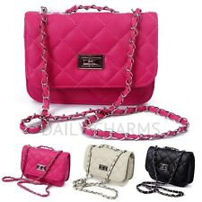 Women's Faux Leather Fashion Purse Quilted Shoulder Satchel Crossbody Handbag