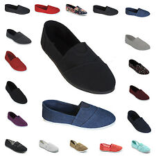 Womens Canvas Flat Espadrille Shoes Slip On Ballet Loafer Comfort Sneaker Cotton