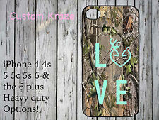 iPhone 4 4s 5 5s 5c 6 plus case camo camouflage love deer hunting country girl