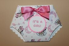DIY printed minnie mouse Print Baby shower diaper invitations