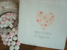 Personalised Sweet Bags - NEW Rustic Heart Design - Wedding Sweet Candy Buffet