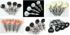 4 string Banjo geared Chrome machine head tuner with various buttons 4ps 328C