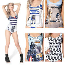 Sexy Bathing Suit One Piece Star Wars R2-D2 C3PO AT-AT Walker Costume Swimsuit
