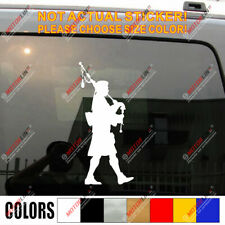 Scottish Bagpiper Bagpipes Car Die Cut Decal Bumper Sticker