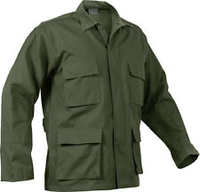 Olive Drab Long Sleeve Military BDU Polyester/Cotton Fatigue Shirt