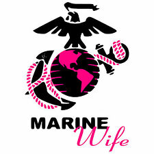 Marine Wife military decal vinyl car truck window decal, Made in the USA