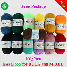 8Ply Knitting Yarn Acrylic 100g 190m Crochet Ball Bulk Wholesale Colours