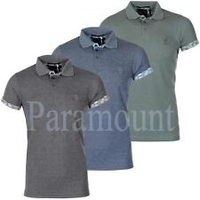 Crosshatch Turn Over Sleeve Pique Polo Shirt  Mens Size