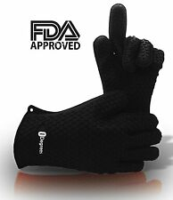 Silicone Oven Mitts Kitchen BBQ Gloves Heat Resistant Cooking Baking Grilling