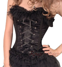 Gothic Lolita Lace Black Lolita S-2XL CORSET Airy-fairy Appealing RR-g2771_k