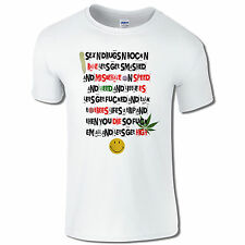 Men's T-Shirt Sex Drugs and Rock N Rave Festival Smoking Weed Funny