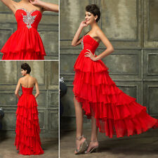 SEXY HIGH-LOW Cocktail Prom Dresses Wedding Bridesmaid Formal Evening Ball Gown