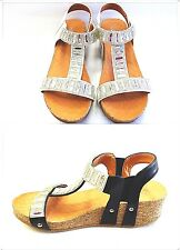 New Women's Web Rhinestone Low Wedge Fashion Cute Synthetic Dress Sandals Shoes