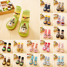Cute Baby Toddler Non-Slip Shoes Socks Booties Slippers Long Sole 0-24Months