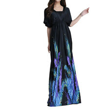 UK 20-34 Plus Size Woman Summer Maxi Long Evening Party Dress 2-6X US 18-32 1159